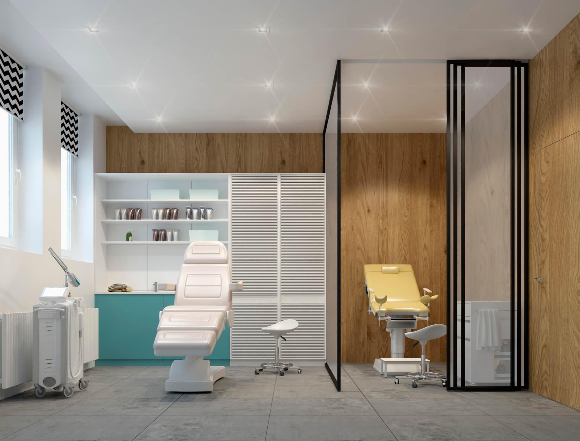 Вид на кабинет лазерной терапии
